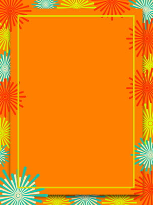 New Years Day Festive Paper-cut Wind Coral Fireworks Background, Festival, Festive, Coral, Background image