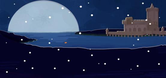 야간 밤 장면 메리 크리스마스 배경 별이 빛나는 하늘,아름다운,꿈,눈이 ,야간,밤,장면 배경 이미지