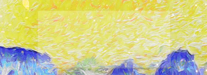 Pintura al óleo estilo minimalista textura fondo amarillo Estilo de pintura óleo Simple Hermoso Imagen De Fondo