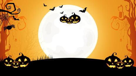 orange phim hoạt hình nền halloween, Cam, Phim Hoạt Hình, Nền Halloween Ảnh nền