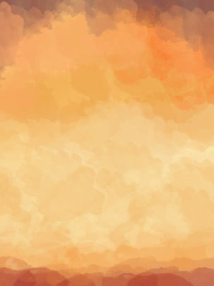 Orange Sunset Abstract Watercolor Gradient Camo Background, Orange Background, Brown Background, Sunset Background, Background image