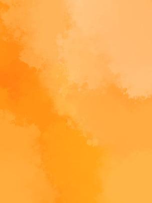 오렌지 수채화 광고 배경 , 수채화 물감, 주황색, 배경 배경 이미지