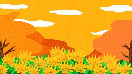 아름 다운 배경 디자인 painted chrysanthemum mid autumn festival, 페인트 칠, 아름다운, 중추절 배경 배경 이미지