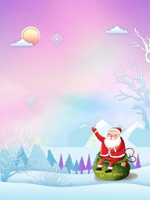 giáng sinh thiết kế nền dầu fantasy , 唯美, Cảnh Giáng Sinh, Ông Già Noel Ảnh nền