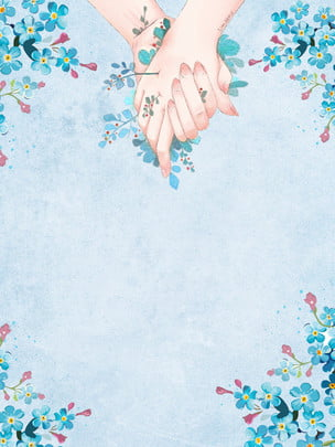 Painted Flowers Hand In Thanksgiving Background Design, Plant, Blue, Thanksgiving Background, Background image