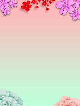 painted flowers 봄 새로운 배경 디자인 , 꽃, 신선한, 페인트 칠 배경 이미지