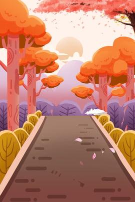 sơn tháng 11 xin chào mùa thu forest road h5 thiết kế nền , Sơn, Đẹp, Mùa Thu Ảnh nền
