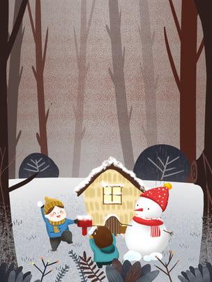 Sơn nền thiết kế lễ hội tuyết Người Tuyết Trận Hình Nền