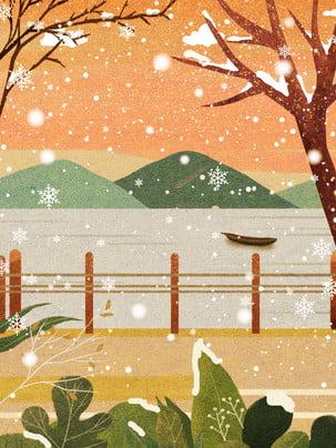 Thiết kế nền mùa đông phong cách Tuyết Bông Tuyết Hình Nền