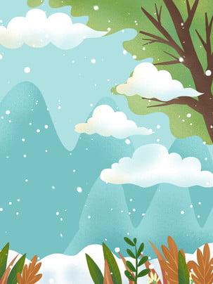 Sơn phong cách thiết kế nền tuyết mùa đông Lễ Hội Tuyết Hình Nền