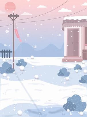 Sơn phong cách thiết kế nền tuyết mùa đông Đẹp Mùa đông Hình Nền