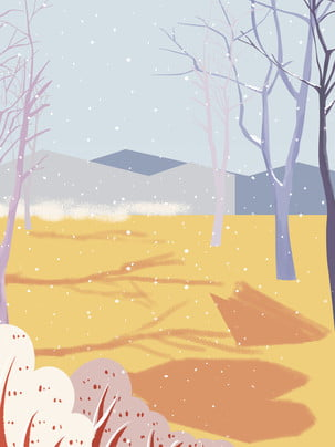 Sơn phong cách mùa đông tuyết thiết kế nền gỗ Tuyết Bông Tuyết Hình Nền