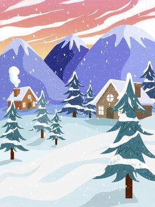 Sơn nền lễ hội tuyết truyền thống Lễ Hội Tuyết Hình Nền