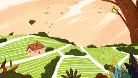 تصميم خلفية لحي القرية, مطلي, خلفية الصيف, قرية صور الخلفية