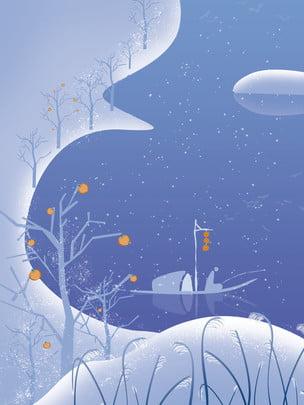 Dầu thiết kế nền tiết tiểu tuyết mùa đông 24 Tiết Khí Hình Nền