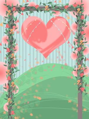 pink fresh flower shop valentine background , Wreath, Flower, Petal Background Background image