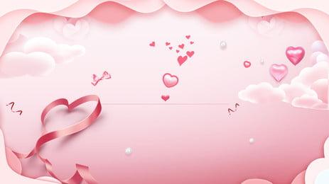 ピンクの微細紙カット風中国のバレンタインデーの愛の背景デザイン ピンクの背景 微視的背景 紙切れ風 背景画像