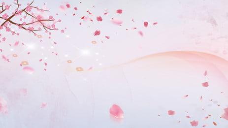 kelopak bunga peach merah jambu mengiklankan latar belakang, Latar Belakang Pengiklanan, Segar, Merah Jambu imej latar belakang