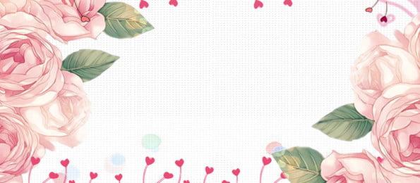pink rose holiday background design, Pink, Plant Background, Rose  Background Background image