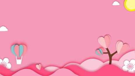 thiết kế nền gió cắt giấy màu hồng tanabata, Màu Hồng, Nền Lãng Mạn, Nền Tanabata Ảnh nền