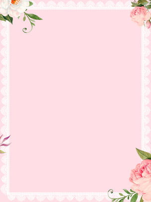 pink wedding lace flowers background material , Flowers Background, Plant Background, European Background Background image