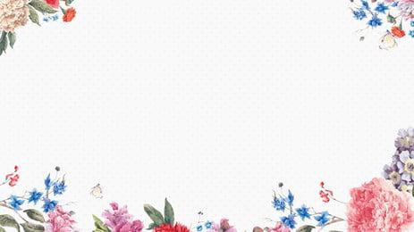 संयंत्र फूल सीमा पृष्ठभूमि चित्रण, चित्रित, पौधे का फूल, बॉर्डर बैकग्राउंड पृष्ठभूमि छवि
