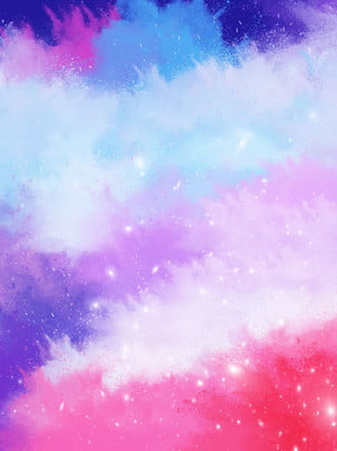 atmosfera tulen fesyen gradien percikan dakwat warna asap cat air berwarna warni , Latar Belakang Yang Berwarna-warni, Luncurkan Latar Belakang, Letupan Cat Air imej latar belakang