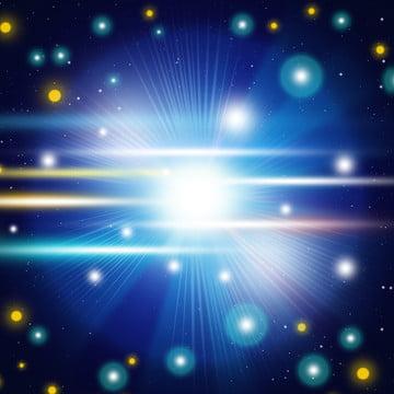 純粋なオリジナルの青色のクールな線型のグラデーションの科学技術の背景 , 光の効, オリジナル, ビジネス 背景画像
