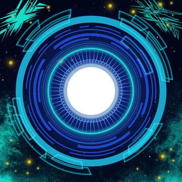 純粋なオリジナルの青い科学技術のクールな背景 , 光の効, オリジナル, ビジネス 背景画像