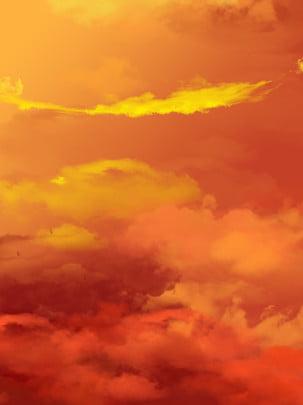 純粋な黄金の火雲の煙の背景 , 金, 火の雲, スモークスタイル 背景画像