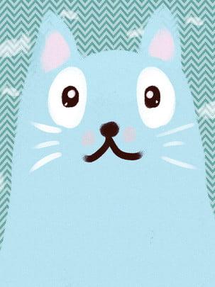 bàn tay tinh khiết vẽ phim hoạt hình mèo xanh nền , Nền Mèo, Động Vật Vẽ Tay, Nền Tối Giản Ảnh nền