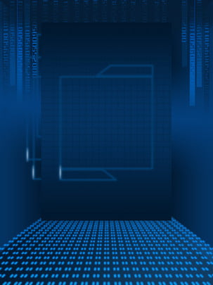 pure hand painted blue technology code , Blue, Light Spot, Code Background image