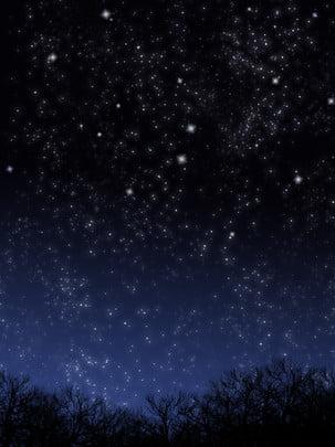 शुद्ध हाथ से चित्रित स्वप्निल सुंदर तारों वाली रात की पृष्ठभूमि , हाथ खींचा हुआ, सपना, सुंदर पृष्ठभूमि छवि