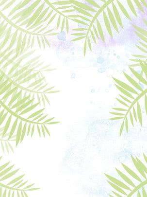 純簡約樹葉不規則邊框背景 , 樹葉, 邊框, 背景 背景圖片