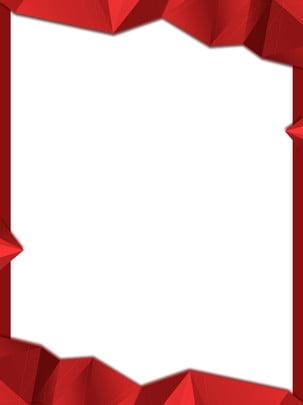 純粋な赤のグラデーション低ポリボーダー広告の背景 , グラデーション, 多角形, 低ポリゴン 背景画像