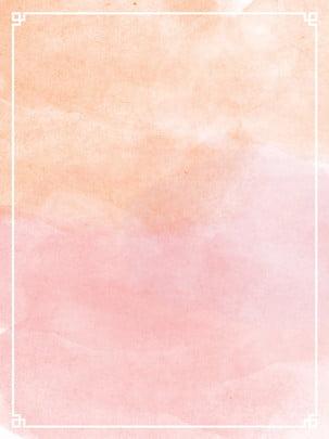 thuần original watercolour vẩy mực màu hồng hình hộp , Trung Quốc Phong, Chiếc Vintage, Vẩy Mực Màu Ảnh nền