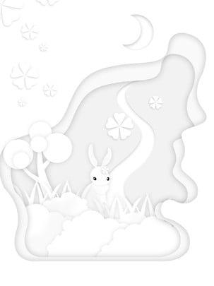 순수한 흰색 장면 3 차원 종이 컷 배경 , 순수한 흰색, 종이 컷 배경, 미세한 배경 이미지