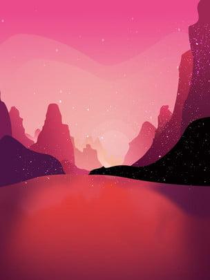 Tay tím vẽ hoạt hình phong cảnh nền Nền màu tím Vẽ Phong Nền Nền Hình Nền