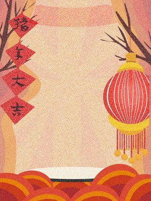 赤2019新年展示会ボードの背景 , 赤, 豚の年を祝う, 芸術的な背景 背景画像