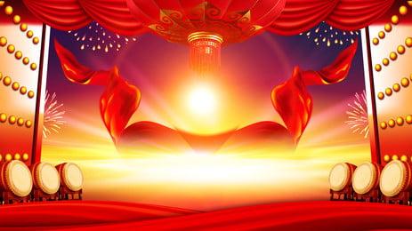 लाल वातावरण खुला दरवाजा पृष्ठभूमि सामग्री, दरवाजा खोलो, लाल पृष्ठभूमि खोलें, लाल विज्ञापन खोलें पृष्ठभूमि छवि