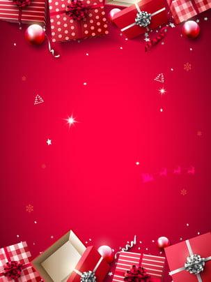 vermelho natal neve inverno cartoon mostrar o fundo da placa , Vermelho, Atmosfera, Festivo Imagem de fundo