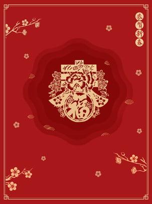 Parabéns vermelho ano novo bênção feliz material de fundo Ele Xinchunxin 2019 Imagem Do Plano De Fundo