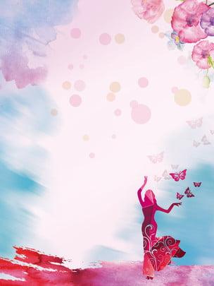 रेड डांसिंग गर्ल विज्ञापन पृष्ठभूमि , विज्ञापन की पृष्ठभूमि, युवा, किशोर लड़की पृष्ठभूमि छवि