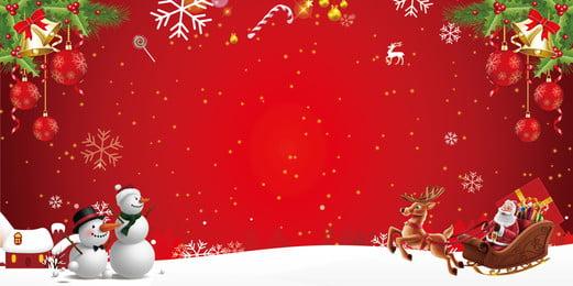 Red lễ hội giáng sinh năm mới thiết kế nền Đỏ Bông Tuyết Hình Nền