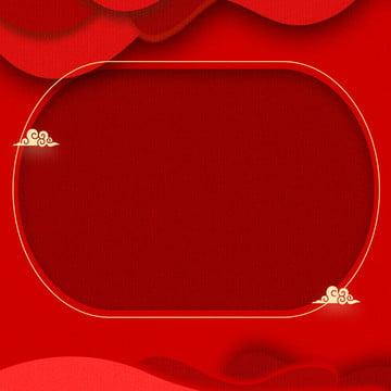 붉은 축제 새해 마스터 그림 배경 자료 , 빨간색, 축제, 주요 그림 배경 배경 이미지