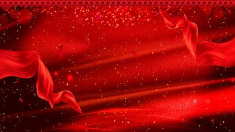 赤いお祝いの赤いリボン新年パーティーサインイン背景素材 赤 お祝い 赤いリボン 背景画像