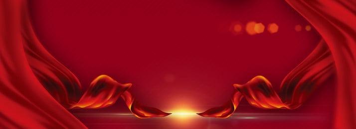 लाल उत्सव रिबन पृष्ठभूमि, लाल, आनंदित, पृष्ठभूमि पृष्ठभूमि छवि