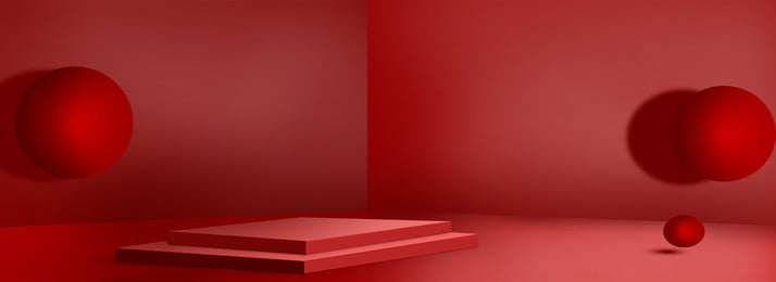 赤の幾何学スペースセンスバナーの背景 球 赤 ジオメトリ 長方形ブース 宇宙感覚 球 赤 ジオメトリ 背景画像