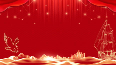 Musical Symbol Red Background Material Red Music