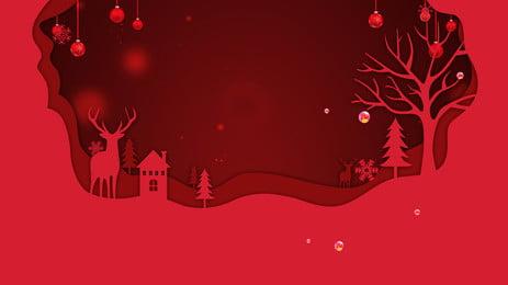 Giấy đỏ cắt gió giáng sinh thiết kế nền Giáng Sinh Nền Hình Nền